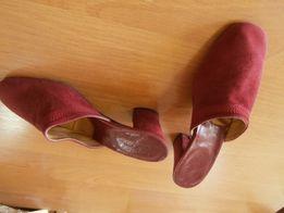 Продаю новые женские натур. замшевые домашние туфли р.35 вишн. цвет ee4cf9888b6c7