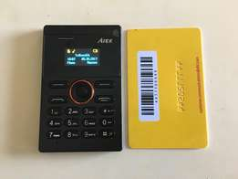 Ultra small credit card sized cellphone