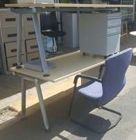 (R) Maple Student Desk with metal drawers AND CHAIR_R1900 per special.