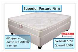Superior Posture firm queen set at factory low prices