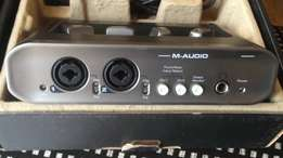 M audio mobile pre audio interface. 2in 2out