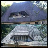 Thatching and Harvey installation