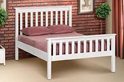 Double Charlene Wooden Bed Sale