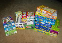 Lots of Educational Toys - Games, flashcards and puzzles