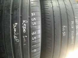 255/35/19 Second hand tyres