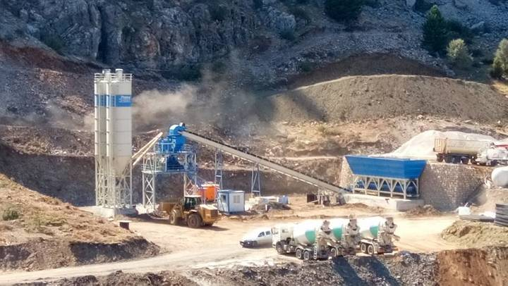 Promax-Star STATIONARY Concrete Batching Plant S100-SNG single shaft mixer   100 m3/h
