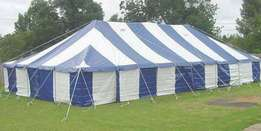 Pole Tent combo 50 seater with tables & chairs
