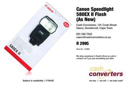 Canon Speedlight 580EX II Flash (As New)