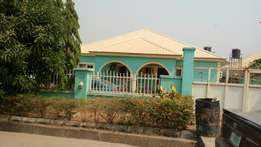 3bedrooms detached bungalow with BQA at Gwarinpa for sale