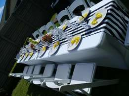 Events bookings, chairs and decor hire