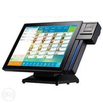 POS system with integrated printer and card reader