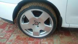 """17"""" rims with tyres"""