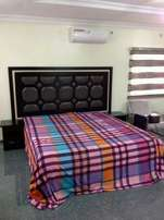 7x6ft bed with 6x8 wall head sticked permanent to the wall