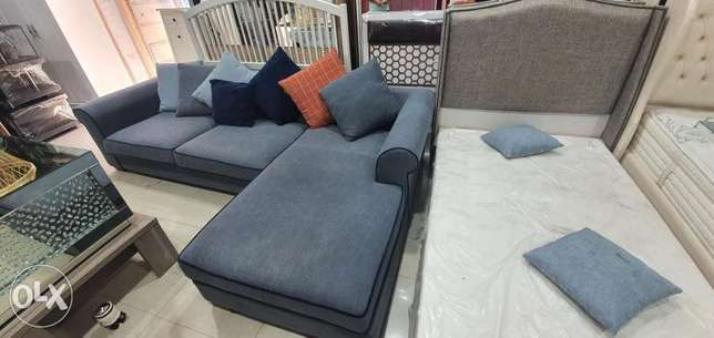 L shape sofa and queen size bed free delivery contact whatsapp please