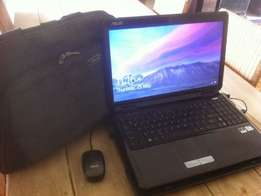 Asus Laptop with Bag Mouse and Charger