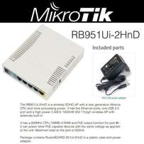 OFFER !! MikroTik RB951Ui-2HnD Indoor Wireless Router + TRAINING
