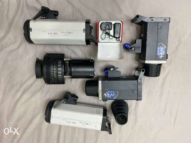4 Studio Flashes for sale