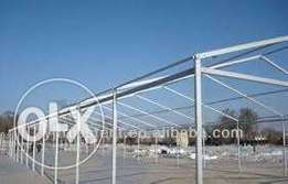 Steel frame for a tent
