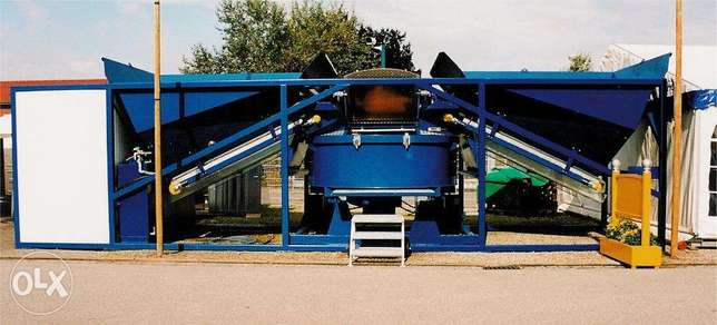 Swedish containerized mobile concrete plant