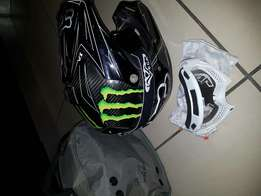 Fox V3 Carbon fibre MX helmet