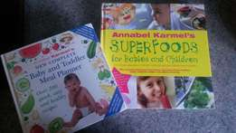 Baby and toddler recipe and meal plan books