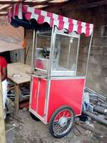 Popcorn machine local with trolley
