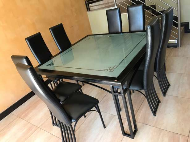 8 seater, square modern dining table with customized glass Cythiavale - image 2