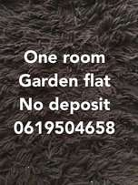 One room garden flat R1800/pm water/lights incl