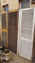 Louvers in different sizes