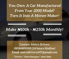 Turn Ur Car Into A Moneymaker Earn #100K - #200K A Month.