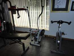 spinning bike and or orbitreck