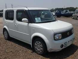 Pearl White Nissan Cube