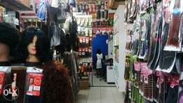 saloon and hairpices shop with all stock for sale