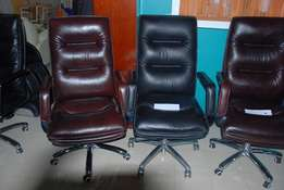 Executive Pure Leather Office Seat