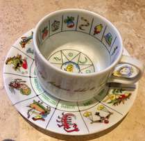 Fun Fine China Fortune-Telling Teacup and Saucer!