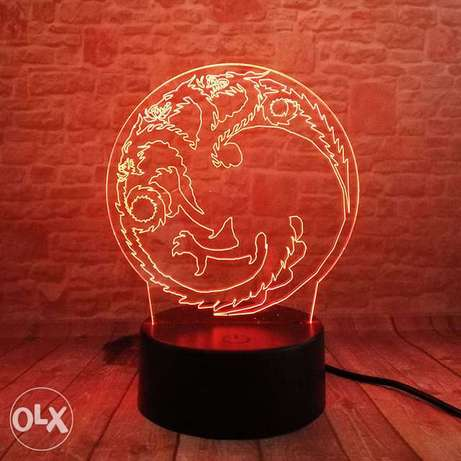 Winter is Coming or targaryen Game of Thrones LED Night Light