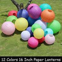 16 Inch Mixed Color Wedding Paper Lanterns