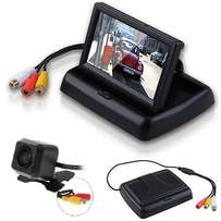 Reverse camera with flip / fold up 4.3 inch monitor