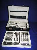 72 Piece Cutlery Set - Stainless Steel - BRAND NEW! - (Silver with Gol