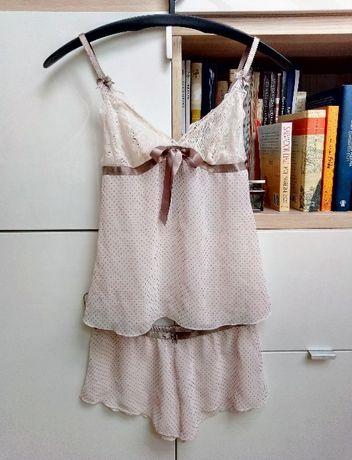 765031566a409 Bielizna nocna piżamka komplet biszkoptowy pudrowy róż Szczecin - image 2
