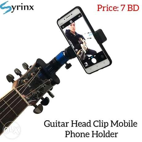 New Guitar Head Clip Mobile Phone Holder available in stock.
