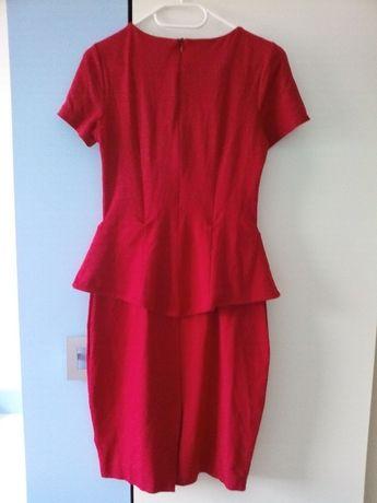 49ccbe5ac4 Pretty Gerl cudo czerwona sukienka z baskinką r 38 M j. nowa! HIT Suwałki