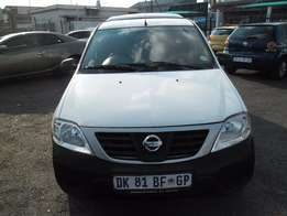 A Nissan Np200, 2014 model, 103000km, white in color, factory a/c, c/d