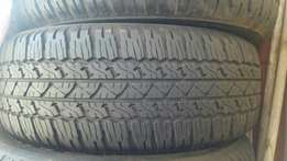 Bridgestone duelers all terrain tyres fortuner