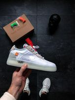new product 359da 3898f OFF-White X Nike Air Force 1 Low White Buty męskie Gucci