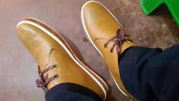 Selling leather shoes