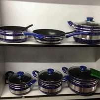 Non stick sufurias for sale blue green and red