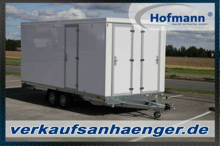 Hofmann anhänger mit dusche, büro, toilette.
