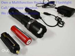 Multifunction Rechargeable Torch Flashlight Camping Cycling Fishing