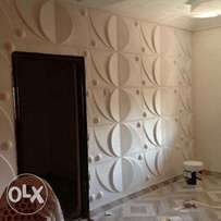 3D Wallpanel and wallpaper